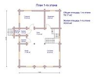 изображение проекта дома из клееного бруса Ивановка