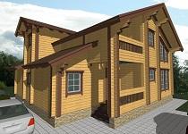 изображение проекта дома из клееного бруса Жостово-1