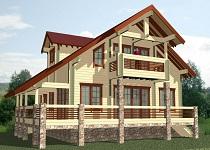 изображение проекта дома из клееного бруса Киржач