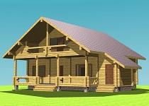 изображение проекта дома из клееного бруса Лесные Дали