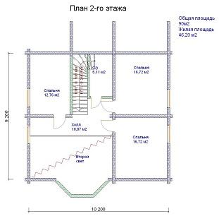 изображение проекта дома из клееного бруса Морозово