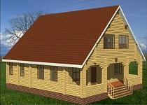 изображение проекта дома из клееного бруса Новгород