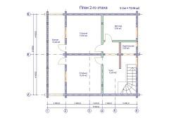 изображение проекта дома из клееного бруса Оптима
