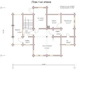 изображение проекта дома из клееного бруса Оригами