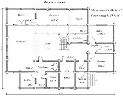 изображение проекта дома из клееного бруса Паритет