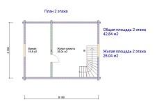 изображение проекта дома из клееного бруса Порохово