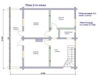 изображение проекта дома из клееного бруса Широкое