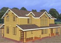 изображение проекта дома из клееного бруса Суоми