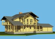 изображение проекта дома из клееного бруса Швеция