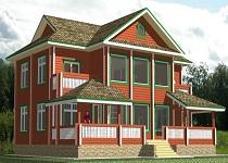 изображение проекта дома из клееного бруса Тифани